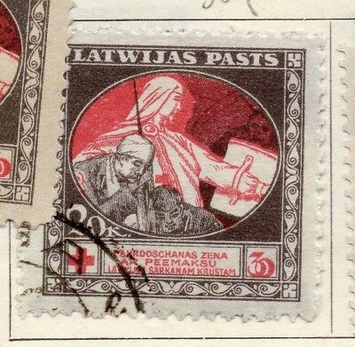 Latvia 1920 Early Issue Fine Used 20k. 147407
