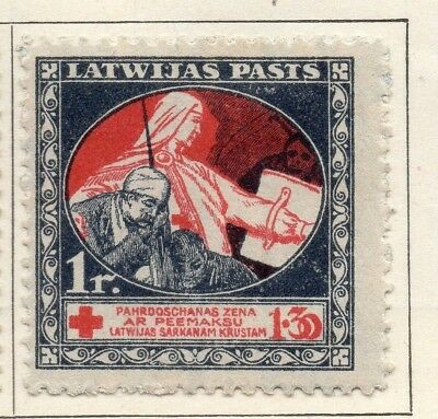 Latvia 1920 Early Issue Fine Mint Hinged 1r. 147410