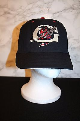 VTG Pro-Line GREENSBORO HORNETS Logo NY Class A BASEBALL Black fitted CAP hat