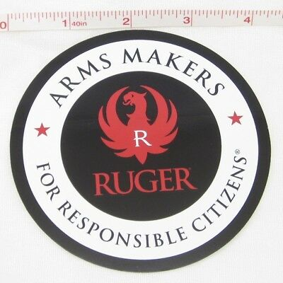 "RUGER Licenced 4"" Red White Black Decal official genuine original logo sticker"