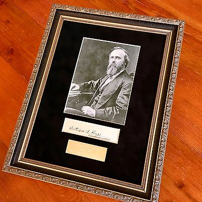 RUTHERFORD B. HAYES * Scarce Full Autpgraph Signed ** as PRESIDENT **