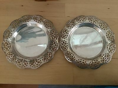 "Two Vintage Grafton Silver Plated Small 5.5"" Plates"