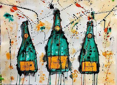 """Veuve Clicquot Trio"", Original Art (Unframed)"