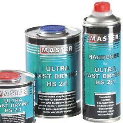 UHS ACRYL KLARLACK 2K Ultra Fast Drying SPEED 2:1 1L TROTON + HÄRTER 1:2 0,5L
