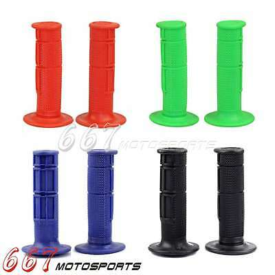 "Soft Gel Rubber 22mm 7/8"" Hand Grips Universal For MX Pit Dirt Bike Motorcycle"