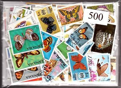 500 BUTTERFLIES huge all different with many great topical sets & large size