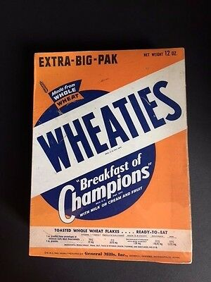 "1947 WHEATIES Cereal Box, 10"" Tall"