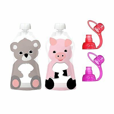 Squooshi Reusable Food Pouches + ChooMee Sipn Soft Top