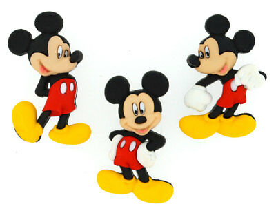 Mickey Mouse Disney Licensed Shank Craft Buttons *New*