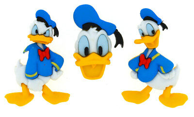 Donald Duck Disney Licensed Shank Craft Buttons *New*