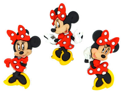 Minnie Mouse Disney Licensed Shank Craft Buttons *New*