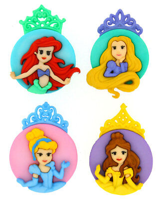 The Disney Princesses Licensed Shank Craft Buttons *New*