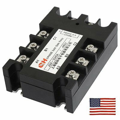 US Ship AC to AC Three 3 Phase Solid State Relay SSR 40A 90-280VAC 380V AC