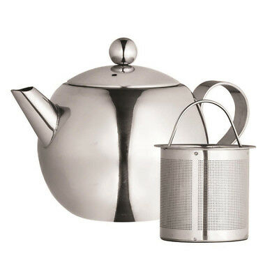 Genuine! AVANTI 1000ml Nouveau Stainless Steel Tea Pot with Infuser! RRP $52.95!