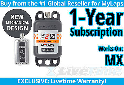 MyLaps X2 MX (Motocross) Rechargeable Transponder w/ 1-year Subscription -AMB