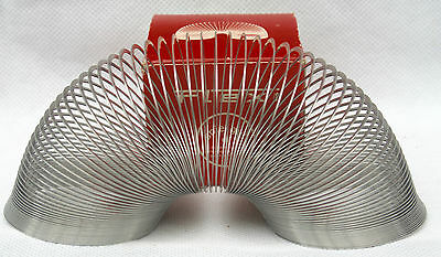 Vintage Slinki Slinky Toy Metal Flexi Spiel Gut West Germany in Original Box