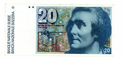 Switzerland ... P-55f ... 20 Francs ... (19)86 ... CH*VF+*