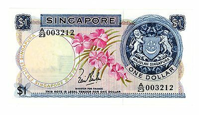Singapore ... P-1a ... 1 Dollar ... ND(1967-72) ... CH*UNC*