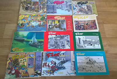 12 Giles Comic Strip Collection And Books 2000S