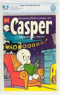 Casper The Friendly Ghost #18  Cgc Vf+ 8.5 - A Very Rare Issue From 1954