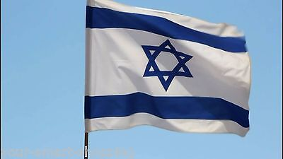 Lot 5 ISRAEL National FLAG 3'X5' XL Jewish Star Magen David From Israel