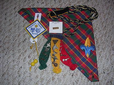 Webelos Scout Lot of 5, Neck., AOL Pin, Den Chief Cord, Activity Pins, Excellent