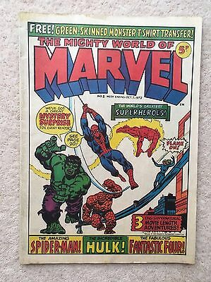 Mighty World of Marvel #1 comic - Oct. 7th 1972