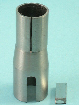 """Tapered Crank Shaft Adapter Bushing 3/4"""" ID X 1"""" To 7/8"""" OD Taper X 2-5/8"""" Long"""