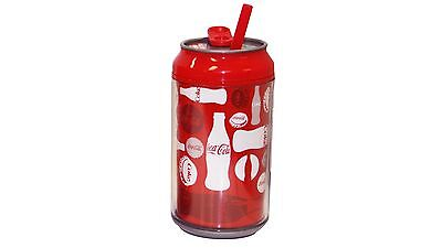 Cool Gear Coca-Cola Can with Straw - 355ml - Red