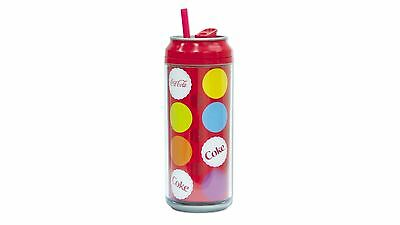 Cool Gear Coca-Cola Can with Straw - 473ml - Red