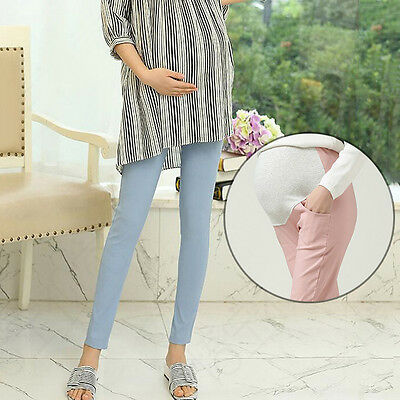 Fashion Maternity Trousers Girl Slim Fit Pencil Pants Pregnancy Women Long Pants
