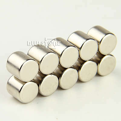 10pcs Super Strong Round Cylinder Magnets 10 x 10mm Rare Earth Neodymium N35
