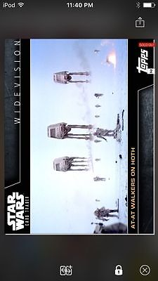 Topps Star Wars Digital Card Trader AT-AT Walkers On Hoth Widevision Insert