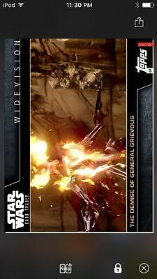 Topps Star Wars Digital Card Trader Demise Of General Grievous Widevision Insert