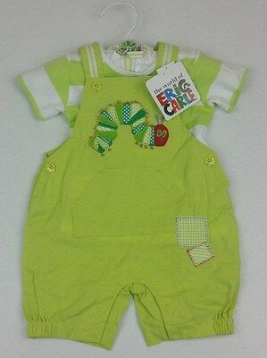 Very Hungry Caterpillar Unisex Baby 2 Pce Overall & T-Shirt - Size: 000 - BNWT