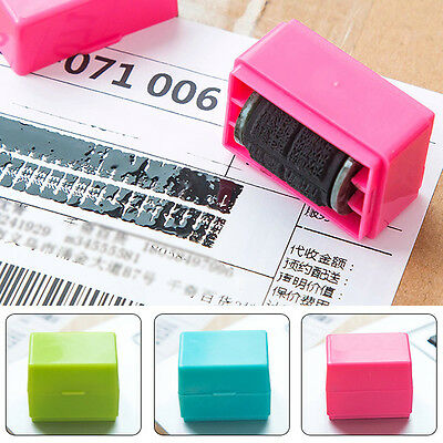 Security Hide ID Garbled Seal Stamp Roller Protect Office Document Identity