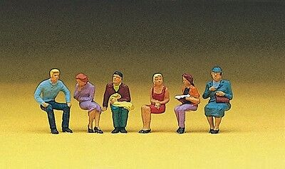 Preiser 10095 HO 1:87 Seated Persons, 6 Figures - NEW