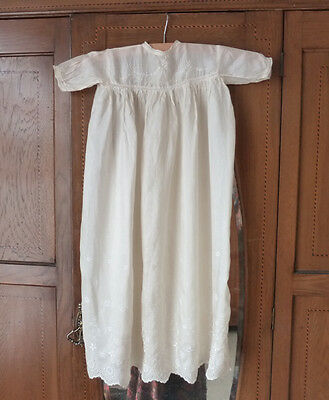 antique Christening gown for a baby, silk 1920's, VGC