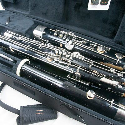 Fox Model II Professional Wood Bassoon, Overhauled, Great Dark Tone! Protec Case
