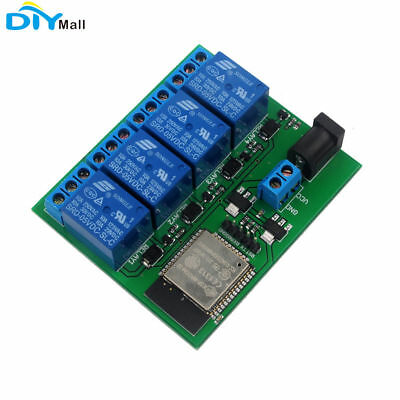 RCmall ESP32S 4 Channel Bluetooth Wifi Relay Module for IOS iPhone Android