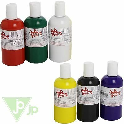 Scolaquip Scola 150ml Bottles Of Permanent Fabric Textile Paint