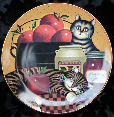 2001 Apple Of My Eye Cats Plate, Purr-Fect Pairs Col, Charles Wysocki Signed Coa