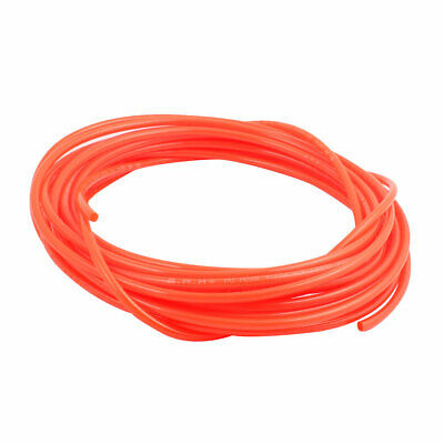 4mm x 6mm Flexible Pneumatic Polyurethane PU Hose Pipe Tube Orange 10m Length
