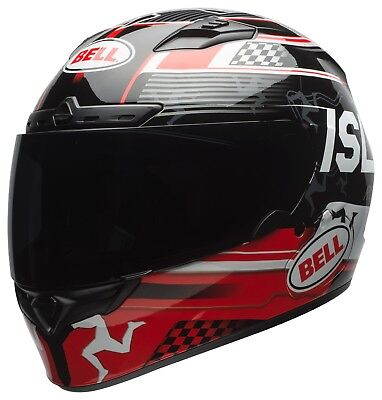Bell Isle Of Man TT DLX Qualifier Motorcycle Helmet W/ Transition Visor