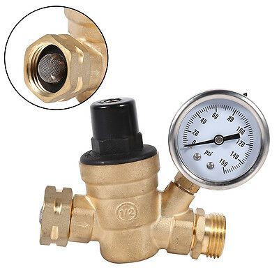 DN20 Brass Screw Thread Water Pressing Reducing Valve W/Gauge Pressure Regulator