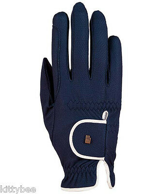 Roeckl ®  Roeck-Grip Riding Gloves NEW!!! Bicolor!! Navy 7
