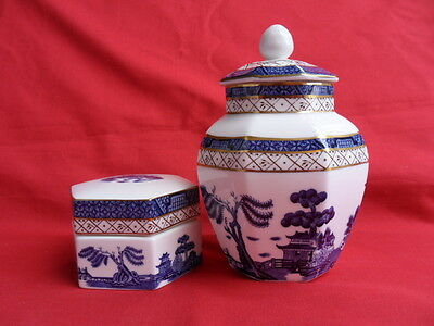 Booths Real Old Willow, Lidded Trinket Dish & Ginger Pot