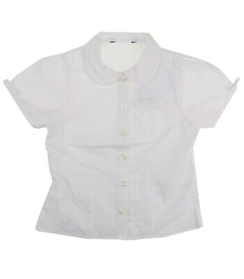 Girls School White Blouse Shirt Uniform Back to School 3/4 - 13/14 yrs Style 5