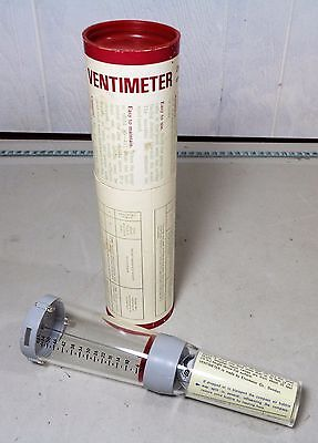 Good Condition Vintage Boxed Ventimeter Direct Reading Modern Wind Gauge