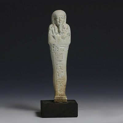 Egyptian Shabti With Hieroglyphs